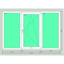 Большое окно в панельный дом REHAU, VEKA